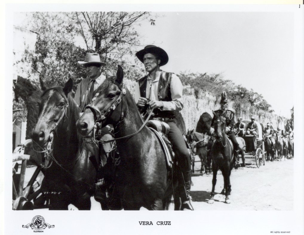 Vera Cruz Gary Cooper Burt Lancaster Press Promo Publicity Photo Movie Film