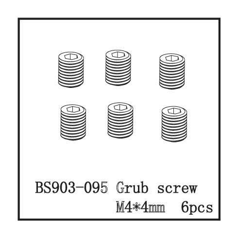 M4 4mm SET SCREW BACKDRAFT AFTERSHOCK CALDERA BS903-095