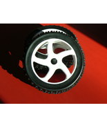 NEW SET OF 4 1/8 SCALE BUGGY WHEELS AND KNOBBY TIRES 17mm HEX HURRICANE ... - $41.95
