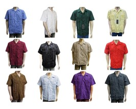 NEW  LOT OF 12  WESTLINE MEN'S GUAYABERA CUBAN WEDDING BUTTON UP DRESS SHIRT