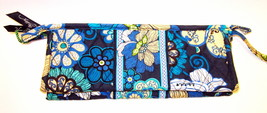 Vera Bradley Small Bow Cosmetic Mod Floral Blue New with Tags - $23.00