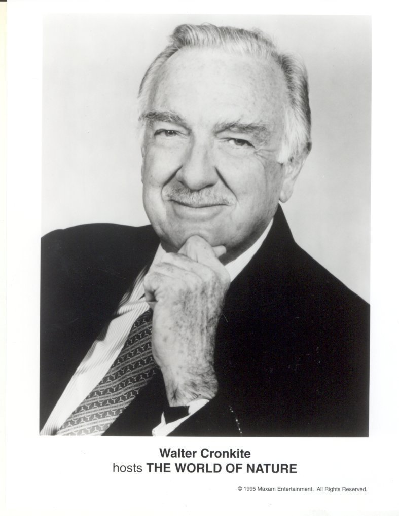 Walter Cronkite World of Nature Press Publicity Photo Robert Mitchum Film Movie