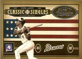 2005 DONRUSS ATLANTA BRAVES HANK AARON SERIAL #64/400 - $2.50