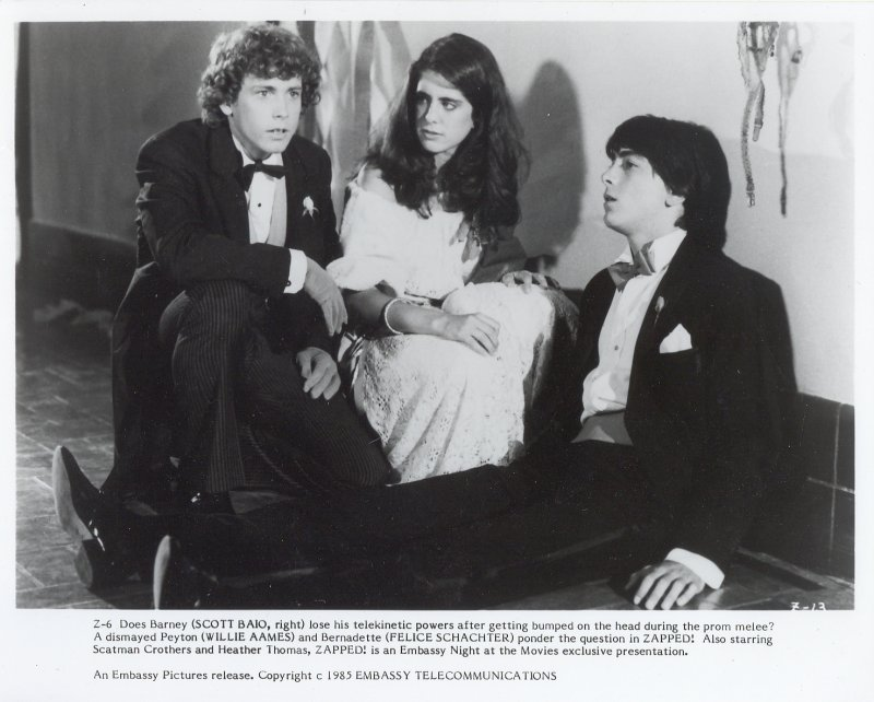 Zapped Press Publicity Photo Scott Baio Willie Aames Felice Schachter Film Movie
