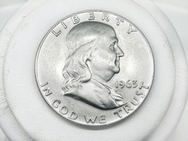 1963-D Franklin Silver Half Dollar Coin VF to EF - $29.00