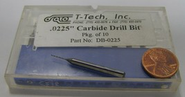 T-Tech Inc Carbide Drill Bit DB-0225 .0225 8 count - $24.99