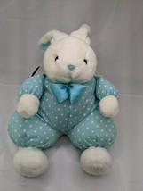 "Russ Hess's White Rabbit Plush 18"" Blue Dots Body Stuffed Animal Toy - $44.95"