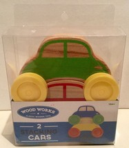 Wood Works Wooden Stacking Cars 2 Pieces - Toddler Easter Basket! - £5.77 GBP