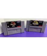 CARTRIDGES ONLY Jurassic Park + Part 2: Chaos Continues Super Nintendo S... - $24.74