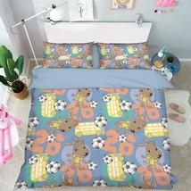 3D Dog Football Bed Pillowcases Quilt Duvet Cover Set Single Queen King ... - $64.32+