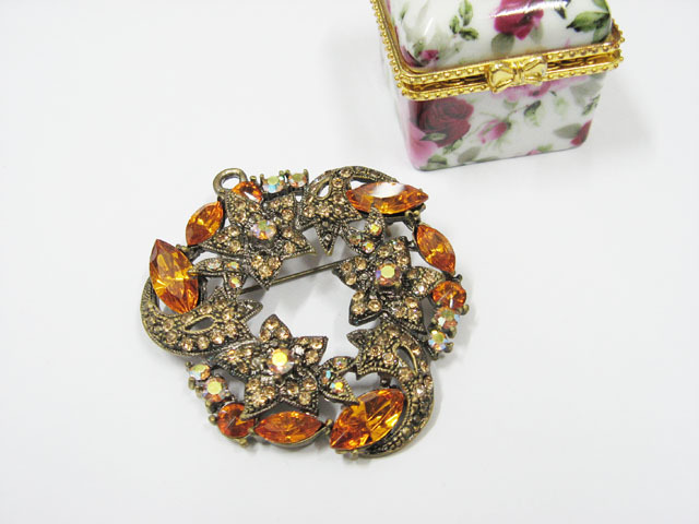 ALLOY FACNY HANDMADE CRYSTAL COMB BROOCH VEIL ACCESSORIES #bcn25y