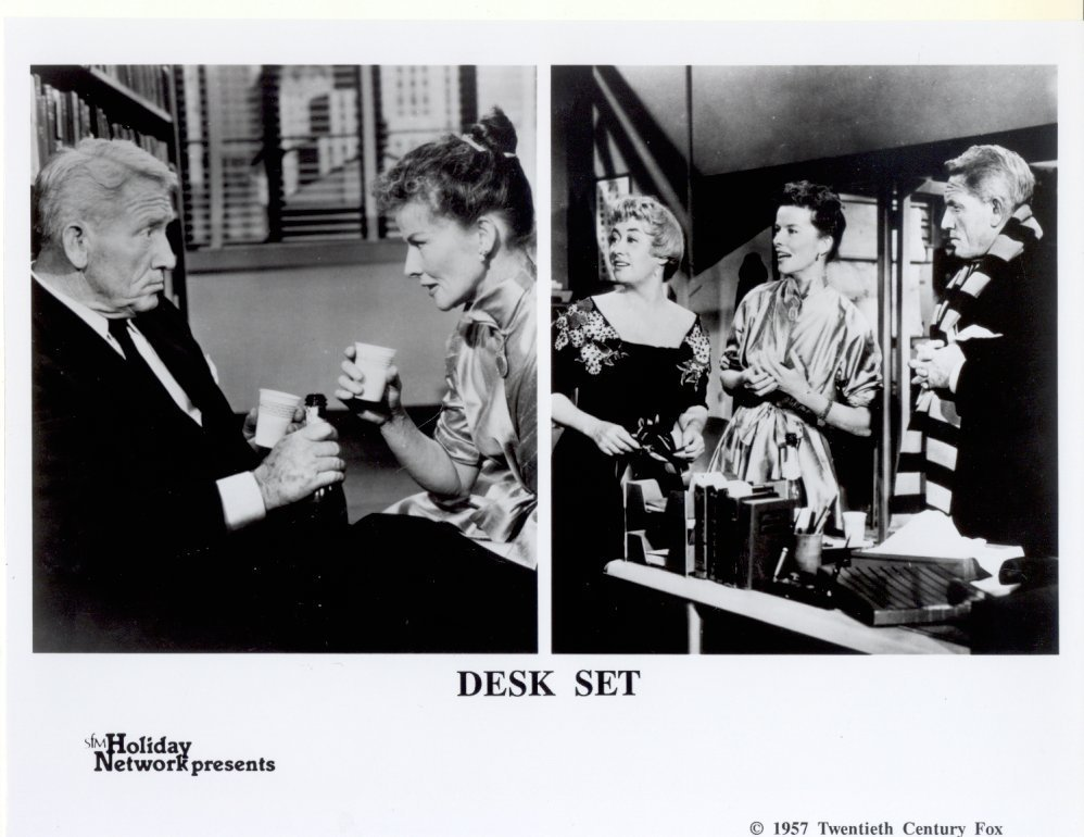 Desk Set Katherine Hepburn Spencer Tracy 1957 Press Photo Movie Film