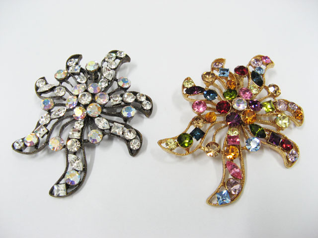 A PRETTY  FACNY HANDMADE CRYSTAL COMB BROOCH VEIL ACCESSORIES #bcn26G