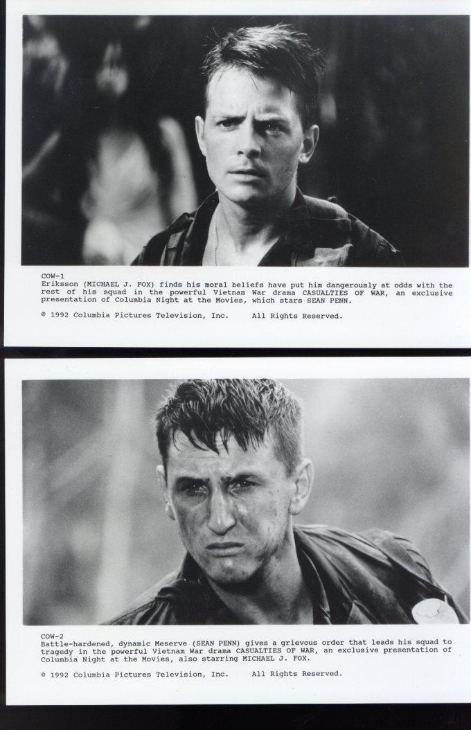 5 Casualties of War Michael J Fox Sean Penn Thuy Thu Le Press Photos Movie Film