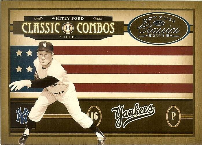 2005 DONRUSS COMBOS YANKEES WHITEY FORD ASTROS RANDY JOHNSON SERIAL #210/400