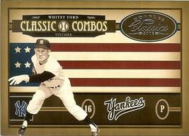 2005 Donruss Combos Yankees Whitey Ford Astros Randy Johnson Serial #210/400 - $2.50