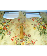Tab Valance Curtain Tapestry with Braided French Cording & Tassels - $35.00