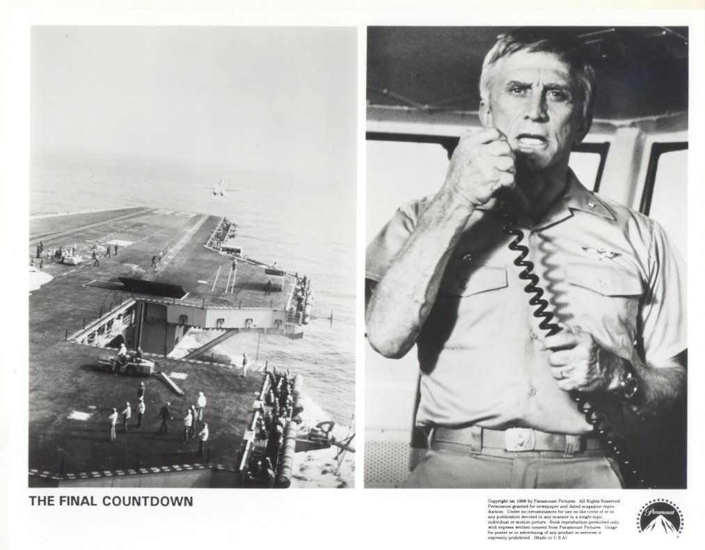 Final Countdown Kirk Douglas Press Photo Movie Film Publicity Promo Shot