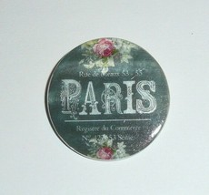 Paris - France - Flowers - Roses - Button Mother of Pearl Shank Button 1... - $11.87