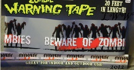 Beware of Zombies Warning Caution Halloween Tape 20 feet long - $6.50