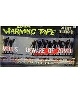 Beware of Zombies Warning Caution Halloween Tape 20 feet long - $6.50