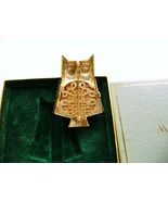 Vintage Avon Metal Pin Perfume Owl Glace - $12.00