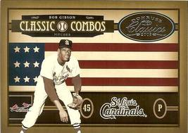2005 DONRUSS COMBOS CARDINALS BOB GIBSON & METS TOM SEAVER SERIAL # 187/400 - $2.50