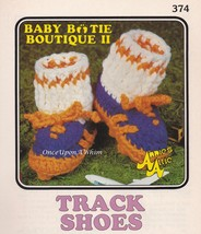 Track Shoes, Annie's Attic Baby Bootie Boutique Crochet Pattern Leaflet 374 - $3.95