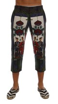 New $850 Dolce & Gabbana Men Chinoiserie Print 3/4 Linen Shorts It46-S - $265.15