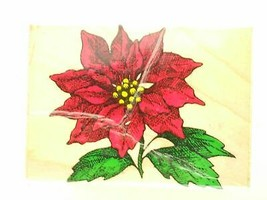 Hero Arts Poinsettia Bloom Rubber Stamp Christmas Flower Plant Holiday L... - $6.78