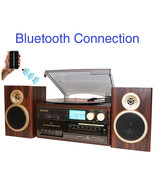 Boytone BT-28SPM, Bluetooth Classic Style Record Player Turntable with A... - $172.05