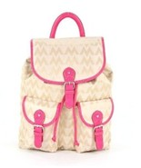 M LOGO Fashion unbranded M LOGO Jaquard BACKPACK DESIGNER LOOK FUSCHIA - $29.99