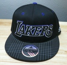 Adidas 210 Fitted LA Lakers Hat Size 7 1/4 to 7 5-8 Gray - $24.74