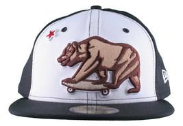 Dissizit California Skating Bear Sk8 Black W New Era 59FIFTY Fitted Baseball Hat image 1