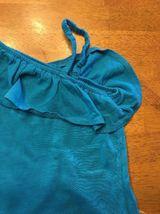 Arizona Girl's Blue One Shoulder Shirt / Blouse - Size: Medium 7/8 image 4