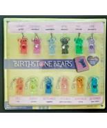 Vintage Birthstone Bears Gumball Vending Machine Charms Header Display C... - £28.79 GBP