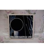 Delft Blue Holland America Line Ship Tile Coaster - $9.99