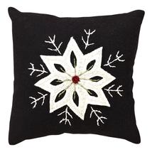 "Christmas Snowflake Pillow - 10""x10"" - VHC Brands - Country Farmhouse Christmas"