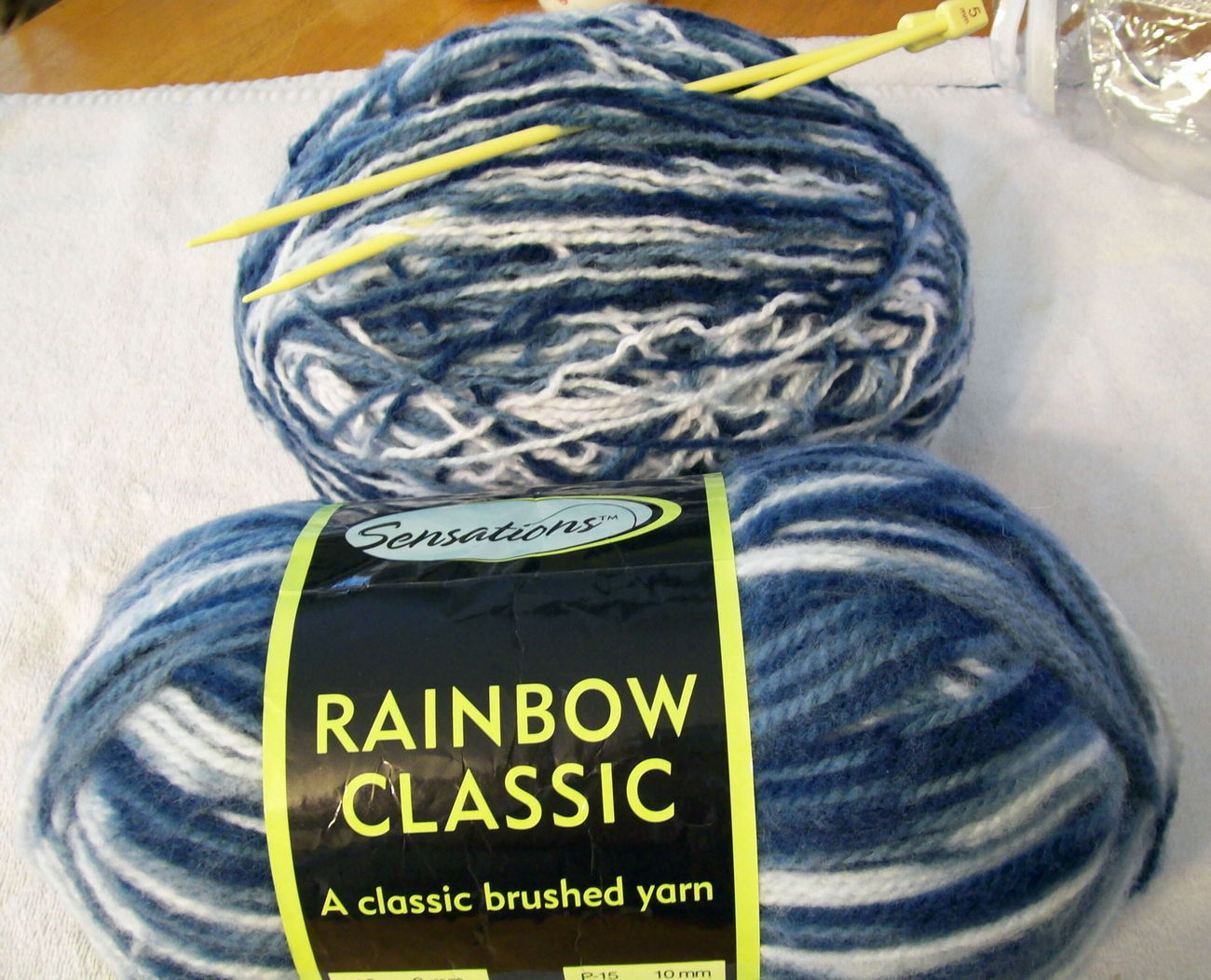 Sensations Rainbow Classic Yarn plus Knitting Needles