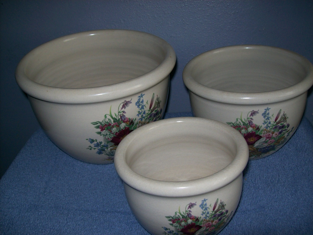 3 piece bowl set from Shakers and Thangs pottery