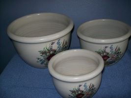 3 piece bowl set from Shakers and Thangs pottery - $24.00