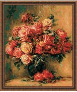 Cross Stitch Embroidery Kit Bouquet of Flowers - $44.13