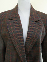 Sag Harbor Brown Plaid Jacket Blazer Wool Blend Coat Sz 10 NEW - $22.12