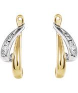 14K Two-Tone Gold Diamond Drop Earring Jackets - $525.99
