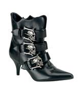 "DEMONIA Fury-06 2 3/4"" Heel Ankle-High Boot - Black Nappa Vegan Leather - $68.95"