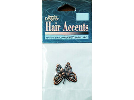 Darice Hair Accents Charms, Copper Butterfly #1945-50