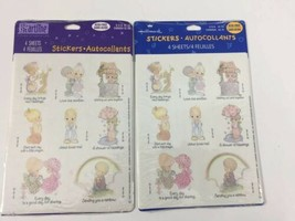 Vtg 90s Hallmark Precious Moments Stickers 2 Packs 4 Sheets Each - $10.19