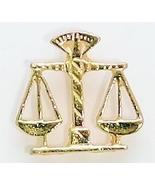 Scales of Justice Legal Law Judge Gold Lapel Pin Tac - $6.83