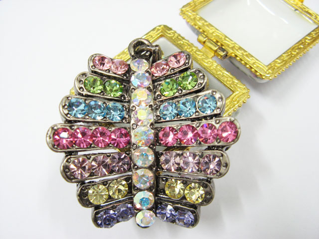 CUTE ALLOY FACNY PENDENT HANDMADE CRYSTAL COMB BROOCH VEIL ACCESSORIES bcn36COL