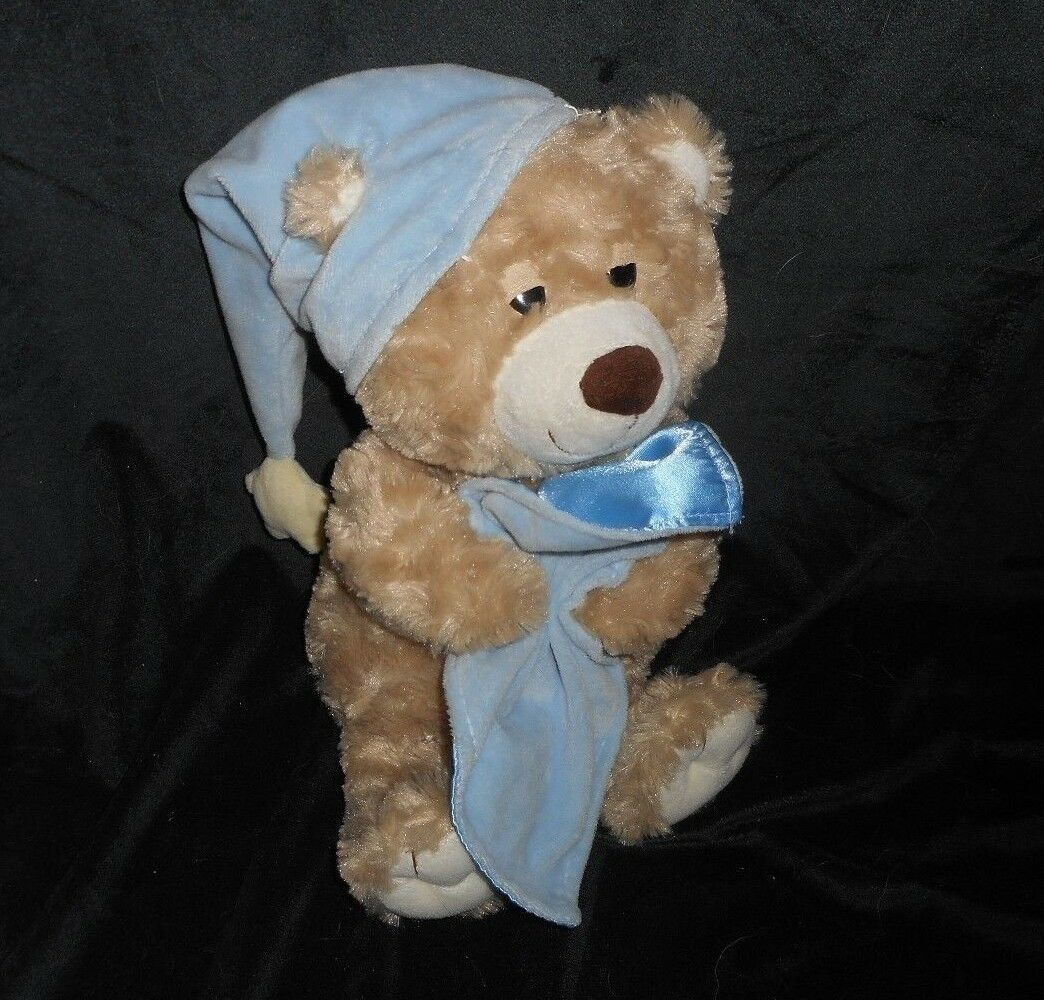 "Primary image for 13"" 2012 TOYS R US BEDTIME BABY BROWN TEDDY BEAR W/ BLANKET STUFFED ANIMAL PLUSH"